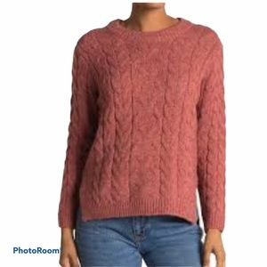 NWT Heartloom Braided Cable knit pullover sweater XS